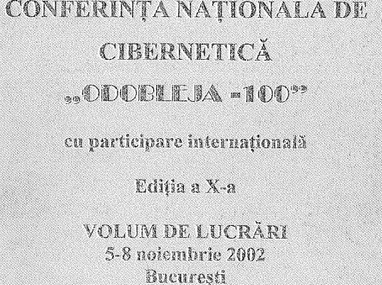 """Centenar Odobleja, Conferința Națională de Cibernetică """"Odobleja-100"""", 2002"""